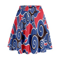 Batik Background Vector High Waist Skirt
