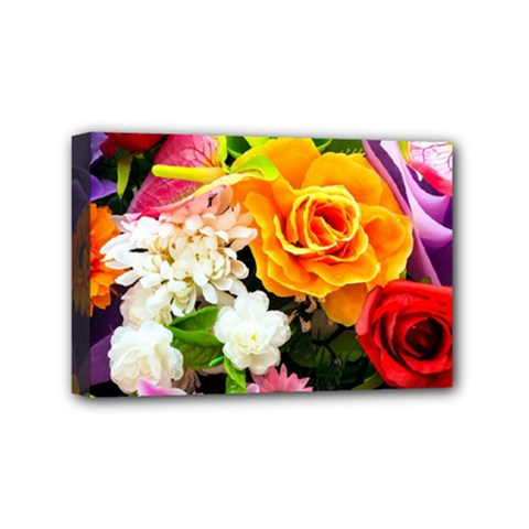 Colorful Flowers Mini Canvas 6  X 4