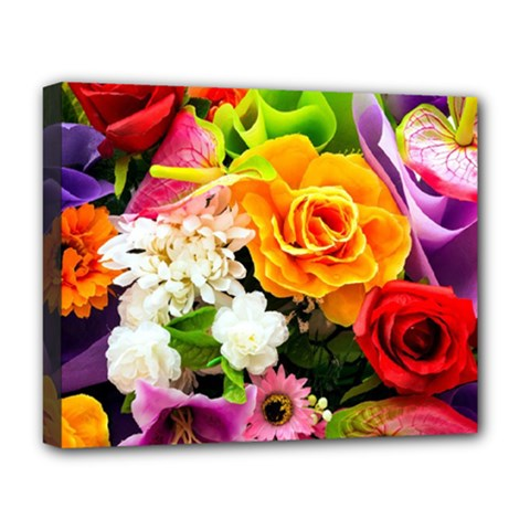 Colorful Flowers Deluxe Canvas 20  X 16