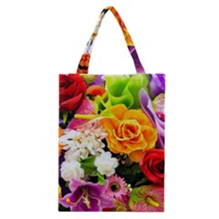 Colorful Flowers Classic Tote Bag