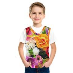 Colorful Flowers Kids  Sportswear