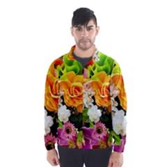 Colorful Flowers Wind Breaker (men)