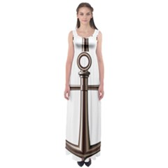 Anchor Empire Waist Maxi Dress