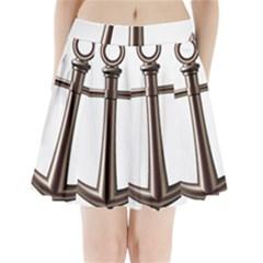 Anchor Pleated Mini Skirt