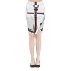 Anchor Midi Wrap Pencil Skirt