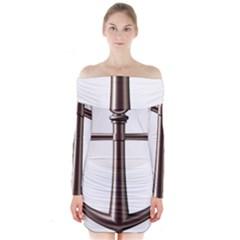 Anchor Long Sleeve Off Shoulder Dress