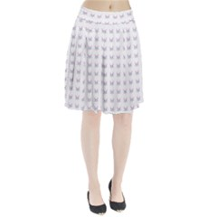 Pink Cute Cat Pattern Pleated Skirt