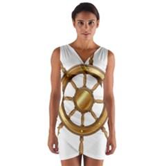 Boat Wheel Transparent Clip Art Wrap Front Bodycon Dress