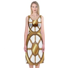Boat Wheel Transparent Clip Art Midi Sleeveless Dress