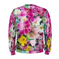 Colorful Flowers Patterns Men s Sweatshirt