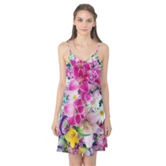 Colorful Flowers Patterns Camis Nightgown