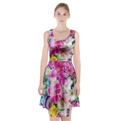 Colorful Flowers Patterns Racerback Midi Dress