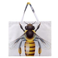 Bee Zipper Large Tote Bag