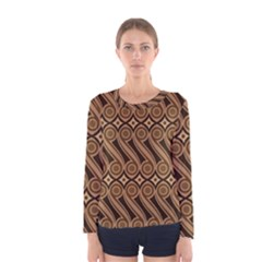 Batik The Traditional Fabric Women s Long Sleeve Tee