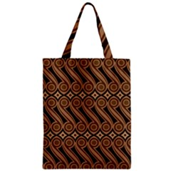 Batik The Traditional Fabric Zipper Classic Tote Bag