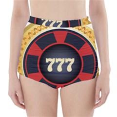 Casino Chip Clip Art High Waisted Bikini Bottoms