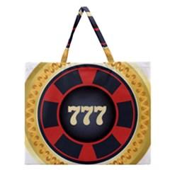 Casino Chip Clip Art Zipper Large Tote Bag