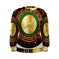 Casino Roulette Clipart Women s Sweatshirt