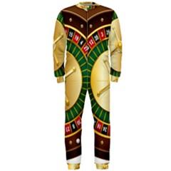 Casino Roulette Clipart Onepiece Jumpsuit (men)