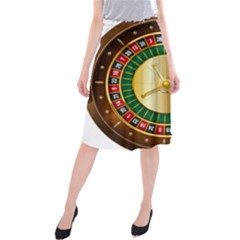 Casino Roulette Clipart Midi Beach Skirt
