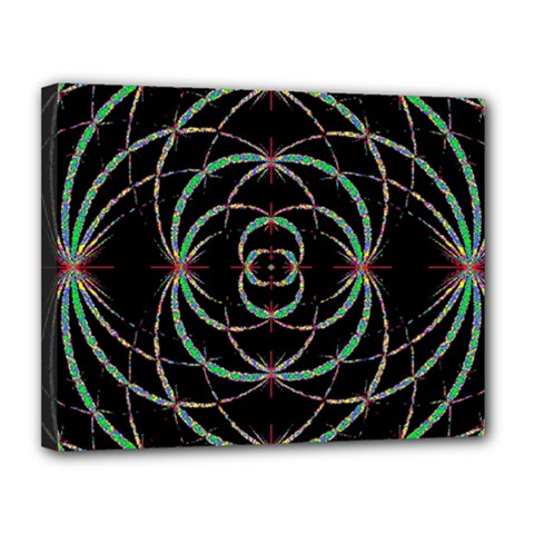 Abstract Spider Web Canvas 14  X 11