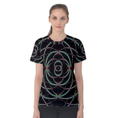 Abstract Spider Web Women s Cotton Tee