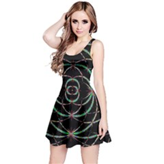 Abstract Spider Web Reversible Sleeveless Dress