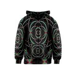 Abstract Spider Web Kids  Zipper Hoodie
