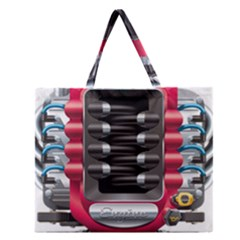 Car Engine Zipper Large Tote Bag