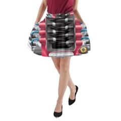 Car Engine A Line Pocket Skirt