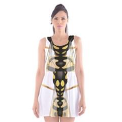 Wasp Scoop Neck Skater Dress