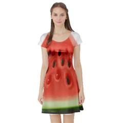 Piece Of Watermelon Short Sleeve Skater Dress