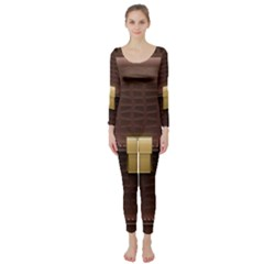 Brown Bag Long Sleeve Catsuit