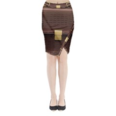 Brown Bag Midi Wrap Pencil Skirt