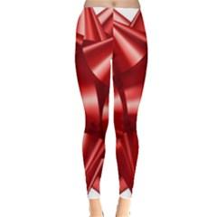Red Bow Leggings