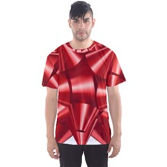 Red Bow Men s Sports Mesh Tee