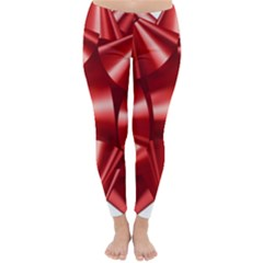Red Bow Classic Winter Leggings