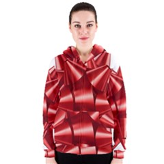 Red Bow Women s Zipper Hoodie