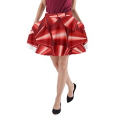 Red Bow A Line Pocket Skirt