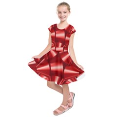 Red Bow Kids  Short Sleeve Dress
