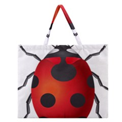 Ladybug Insects Zipper Large Tote Bag