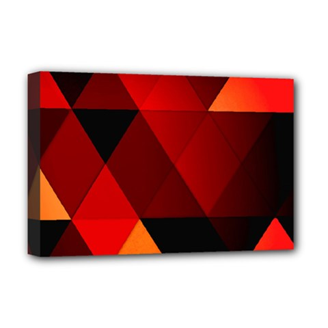 Abstract Triangle Wallpaper Deluxe Canvas 18  X 12