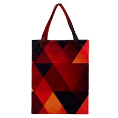 Abstract Triangle Wallpaper Classic Tote Bag