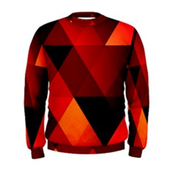 Abstract Triangle Wallpaper Men s Sweatshirt