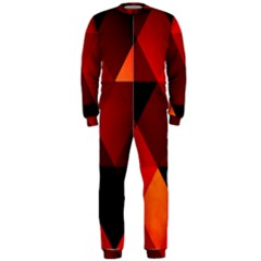 Abstract Triangle Wallpaper Onepiece Jumpsuit (men)