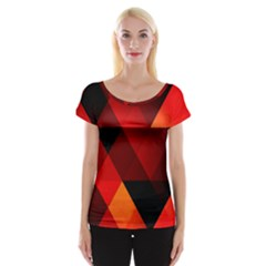 Abstract Triangle Wallpaper Cap Sleeve Tops