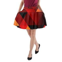 Abstract Triangle Wallpaper A Line Pocket Skirt