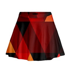 Abstract Triangle Wallpaper Mini Flare Skirt