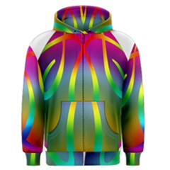 Colorful Easter Egg Men s Zipper Hoodie