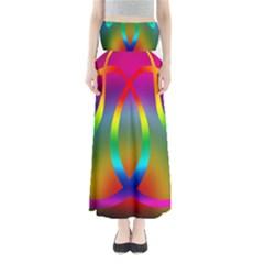 Colorful Easter Egg Full Length Maxi Skirt